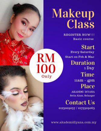 akademi diyana makeup class workshop feb mac 2019